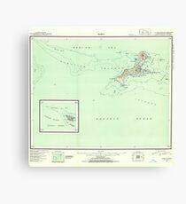 USGS TOPO Map Alaska AK Kiska 361052 1951 250000 Canvas Print