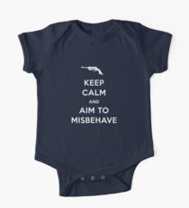 Keep Calm and Aim to Misbehave Kids Clothes