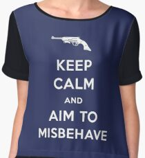 Keep Calm and Aim to Misbehave Women's Chiffon Top