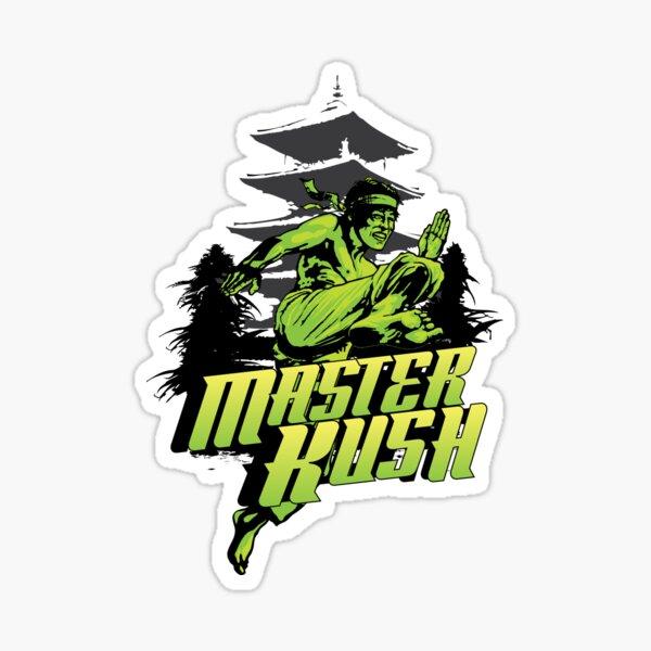 Master Kush Cannabis  Strain Art Sticker