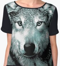 Wolf Face Chiffon Top