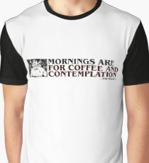 Stranger Things Coffee and contemplation Graphic T-Shirt