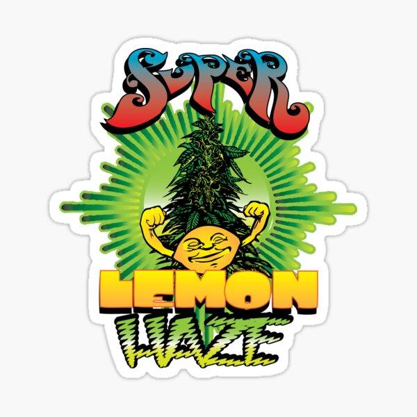 Super Lemon Haze Cannabis Strain Art Sticker