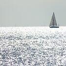 Ship on silver sea by Jax Blunt
