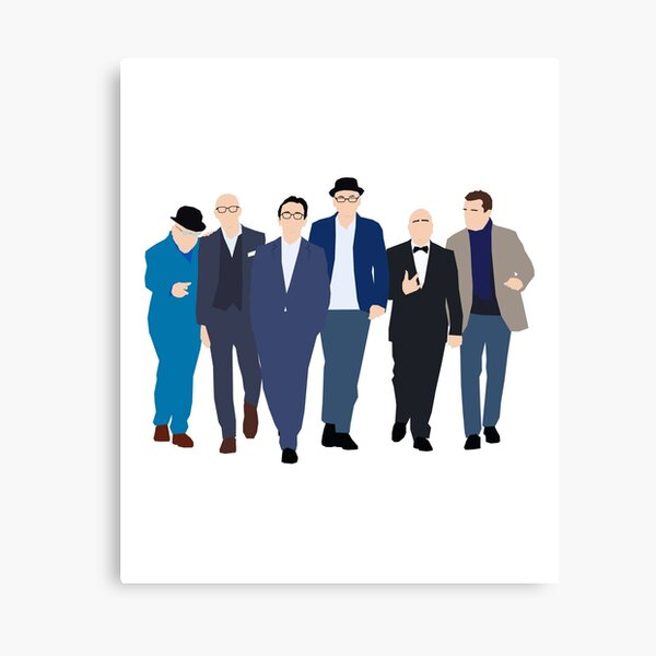 Madness Old gang Band Line Up Inspired Artwork   Vector   Fan Art Canvas Print