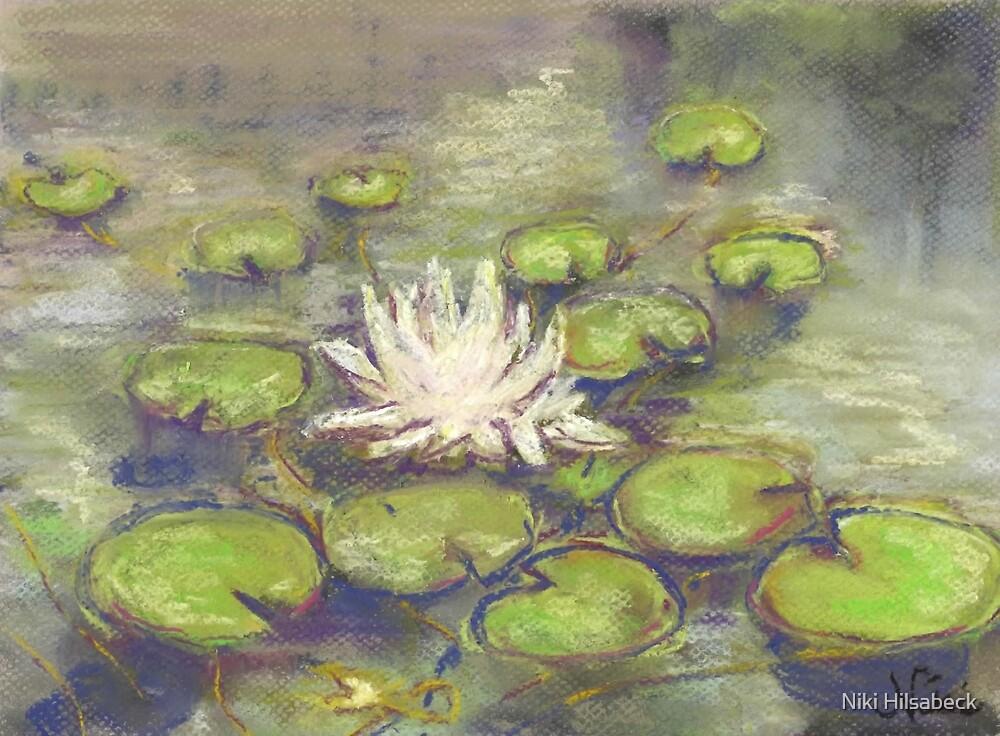 Balboa Water Lilies (pastel) by Niki Hilsabeck