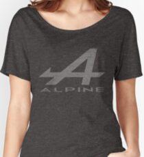 Alpine Alphabet Logo WHT Distressed Women's Relaxed Fit T-Shirt