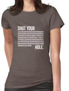Shut your Pi hole (3.14) Womens Fitted T-Shirt