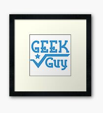 Geek Guy Framed Print