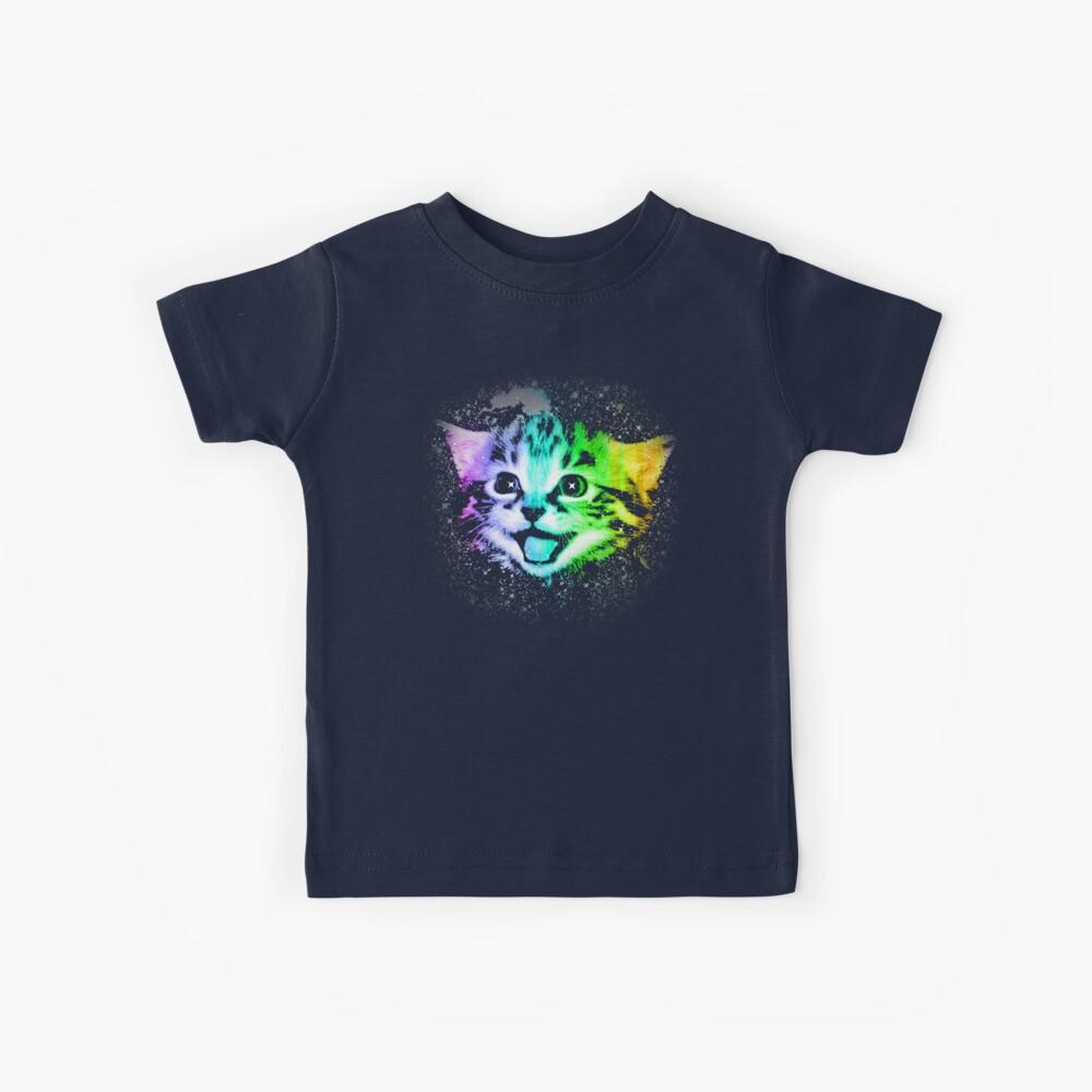 Deep Galaxy Space Kitty Kids T-Shirt