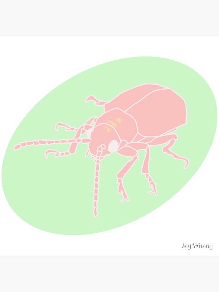 Dessert Insect with Shadow (Pastel 2) by Jay-Whang-Arts