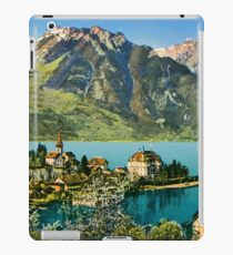 1900s Switzerland Swiss Alps Spiez mit Ralligstoecke iPad Case/Skin
