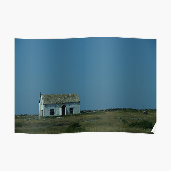 Traditional Aran Islands Cottage Poster