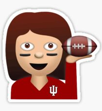 Indiana Football Emoji Sticker