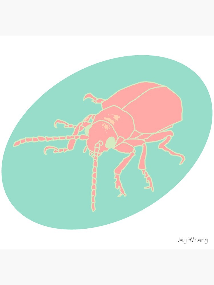 Dessert Insect with Shadow (Pastel 3) by Jay-Whang-Arts