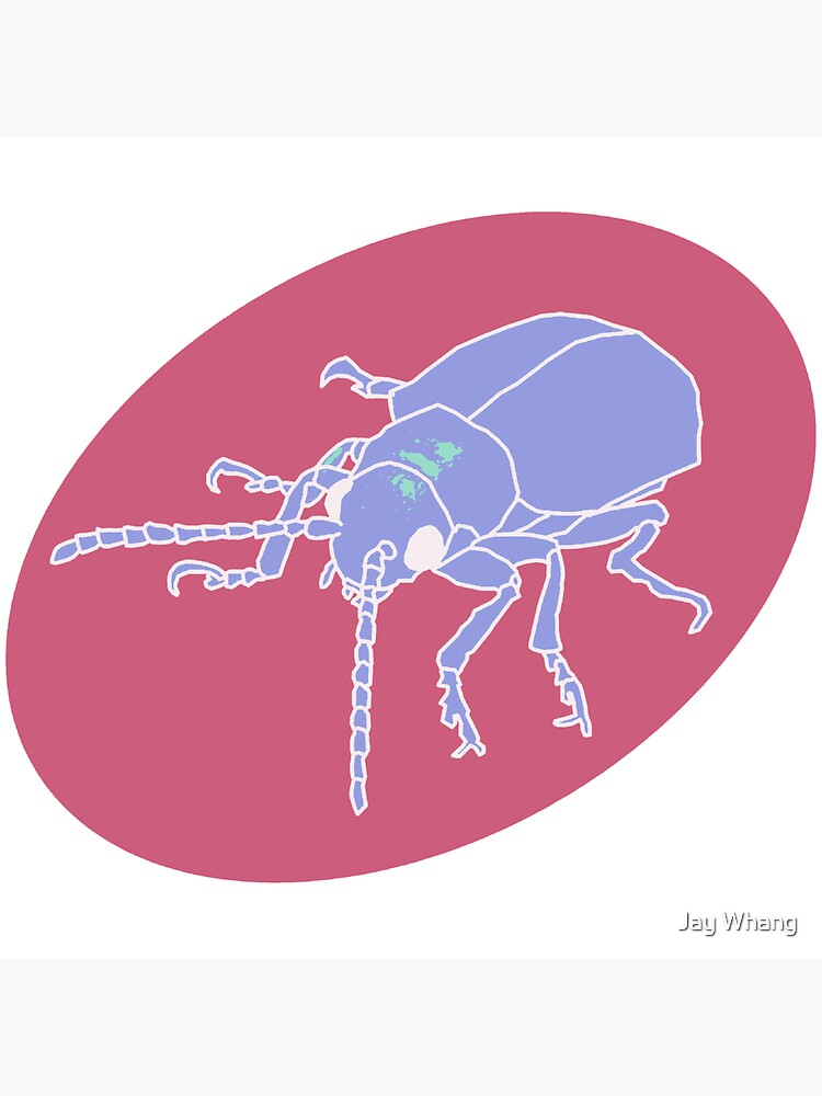 Dessert Insect with Shadow (Pastel 4) by Jay-Whang-Arts