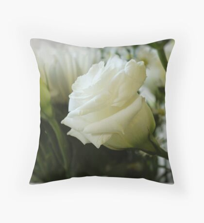 PERFECT IN WHITE Throw Pillow