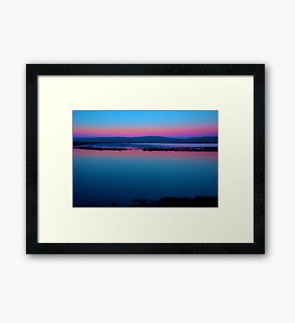Wetlands Sunset Framed Print