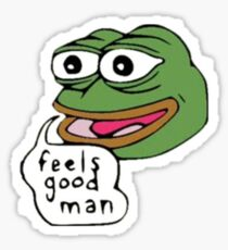 Pepe feels good man Sticker
