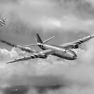 Suez Canberra PR 7 Shoot down B&W version by Gary Eason