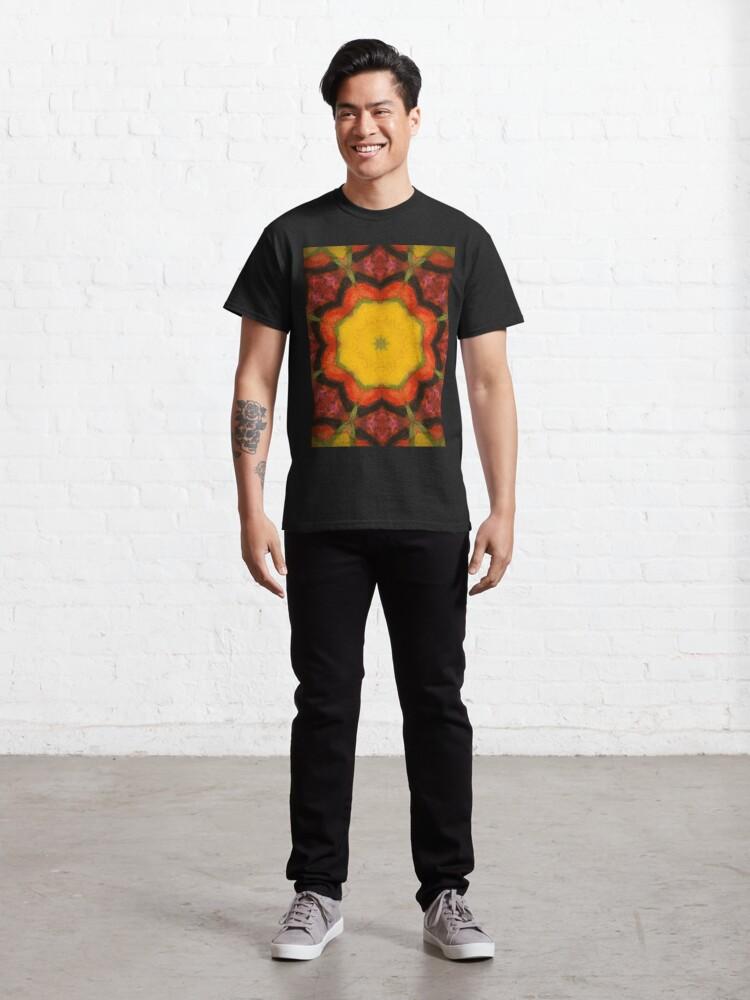 Alternate view of Burnt Sunrise Kaleidoscope - 60s Fashion Classic T-Shirt