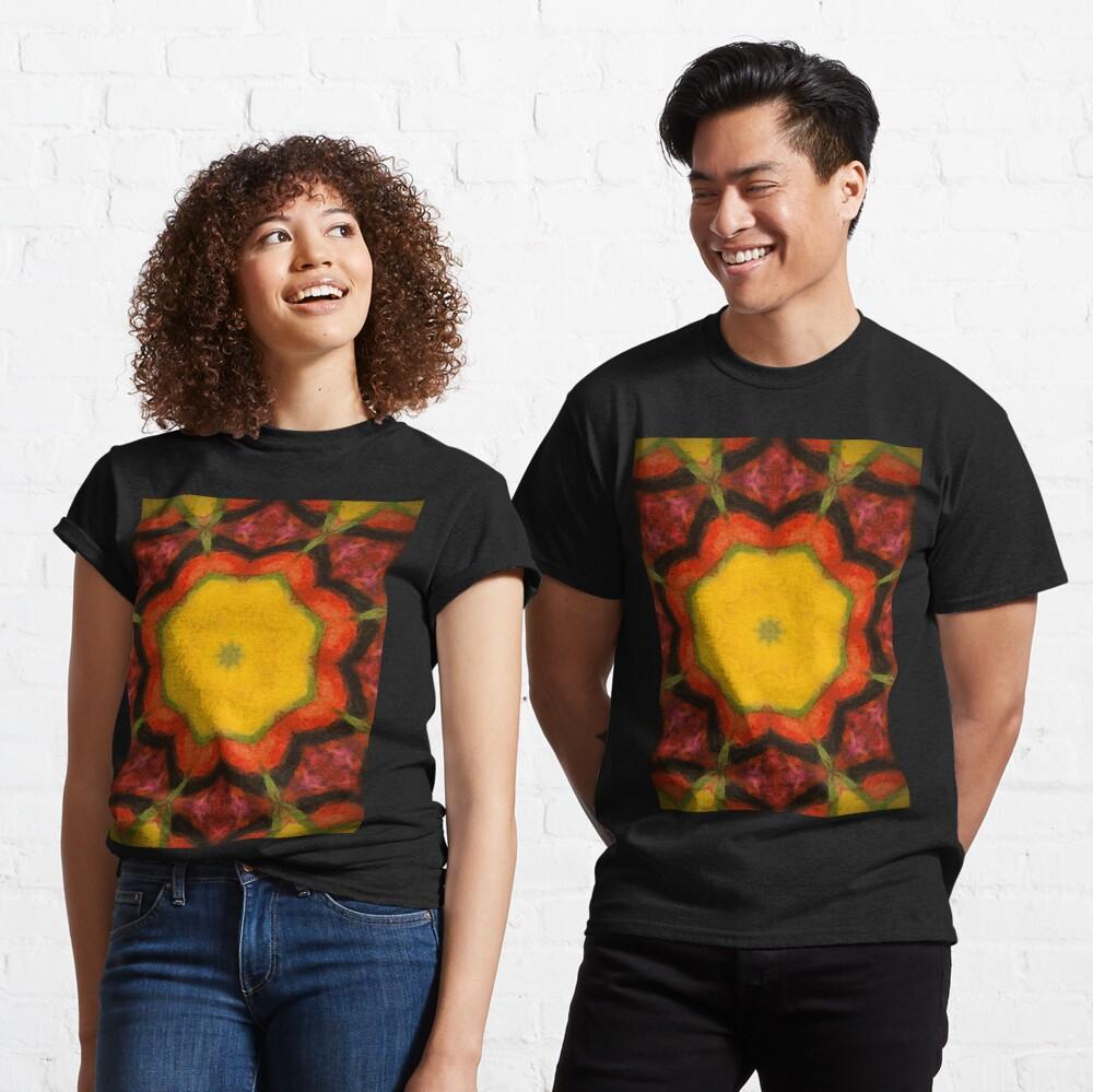 Burnt Sunrise Kaleidoscope - 60s Fashion Classic T-Shirt