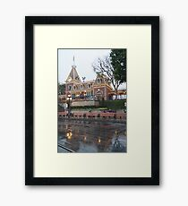 Rainy Main Street Station Framed Print