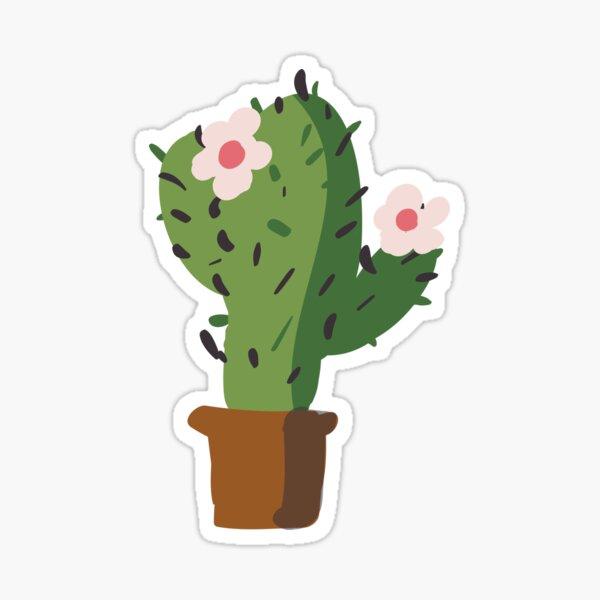 Barbary fig Cactaceae Sticker