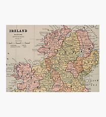 Vintage Map of Northern Ireland (1883) Photographic Print