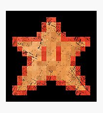 Star of Invincibility Pixels Photographic Print