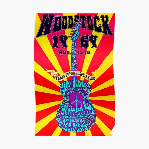 WOODSTOCK 1969 GUITAR POSTER Poster
