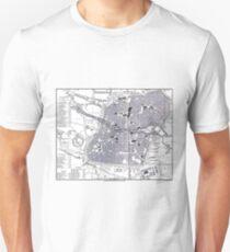 Vintage Map of Nuremberg Germany (1858) Unisex T-Shirt