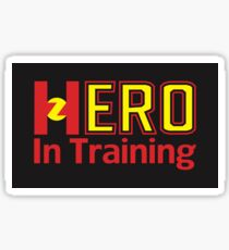 Hero In Training - Black Background Sticker