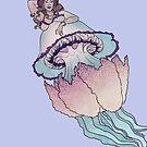Barrel Jellyfish Mermaid by rosalarian