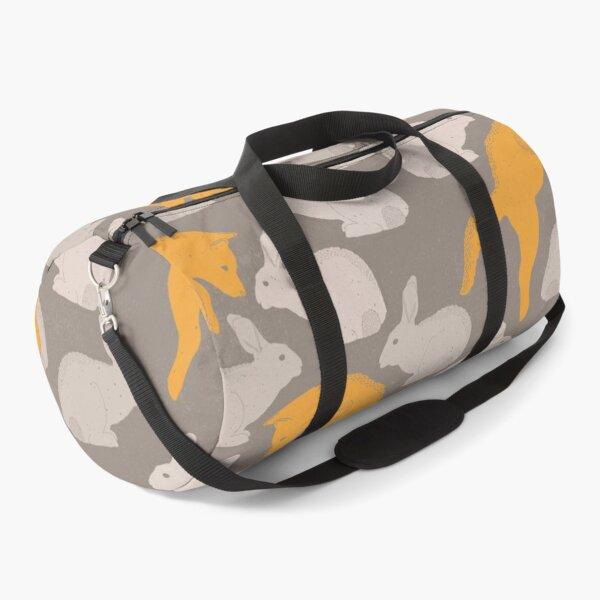 Fox and Rabbit Spring Pattern Duffle Bag