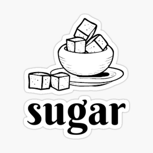 sugar label Sticker