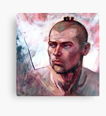 Portrait of Ben, oil painting on stretched canvas Canvas Print