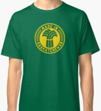 Made in Saskatchewan Logo (Green & Gold) Classic T-Shirt