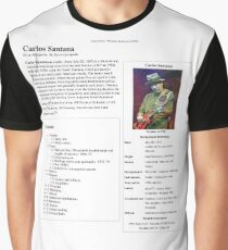Carlos Santana Wikipedia Graphic T-Shirt