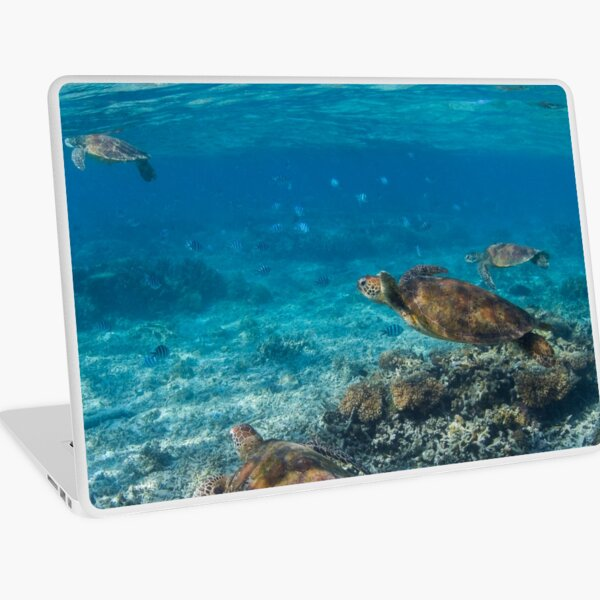 Turtle party - print Laptop Skin