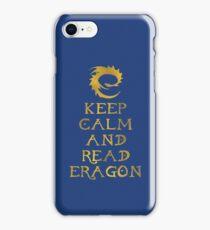 Keep calm and read Eragon (Gold text) iPhone Case/Skin
