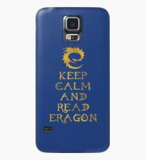 Keep calm and read Eragon (Gold text) Case/Skin for Samsung Galaxy