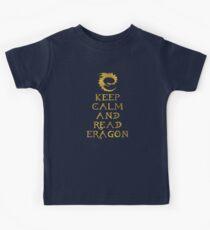 Keep calm and read Eragon (Gold text) Kids Tee