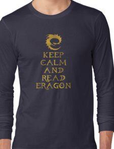 Keep calm and read Eragon (Gold text) Long Sleeve T-Shirt