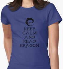 Keep calm and read Eragon (Black text) Womens Fitted T-Shirt