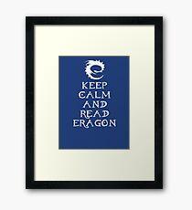 Keep calm and read Eragon (White text) Framed Print