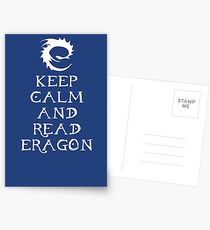 Keep calm and read Eragon (White text) Postcards
