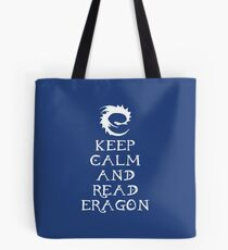 Keep calm and read Eragon (White text) Tote Bag