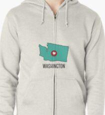 Washington State Herz Kapuzenjacke