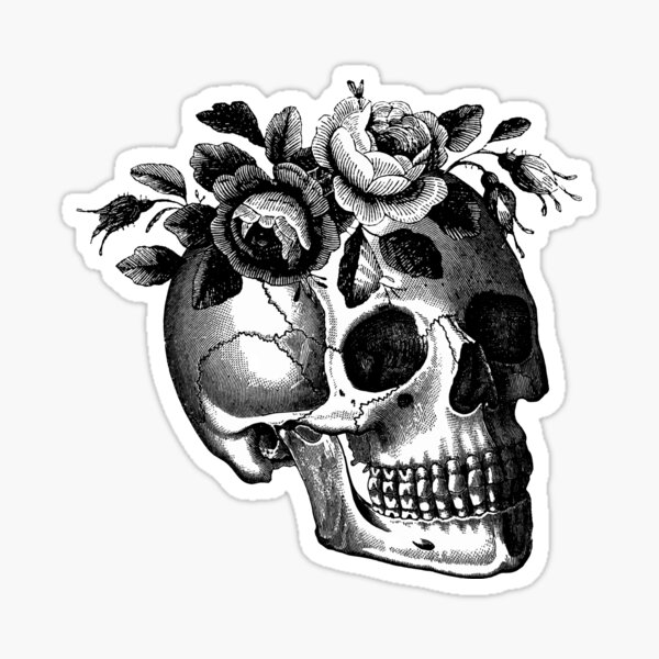 Floral Mortis Sticker